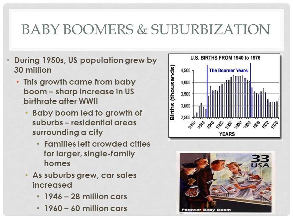 Baby boomers & suburbization