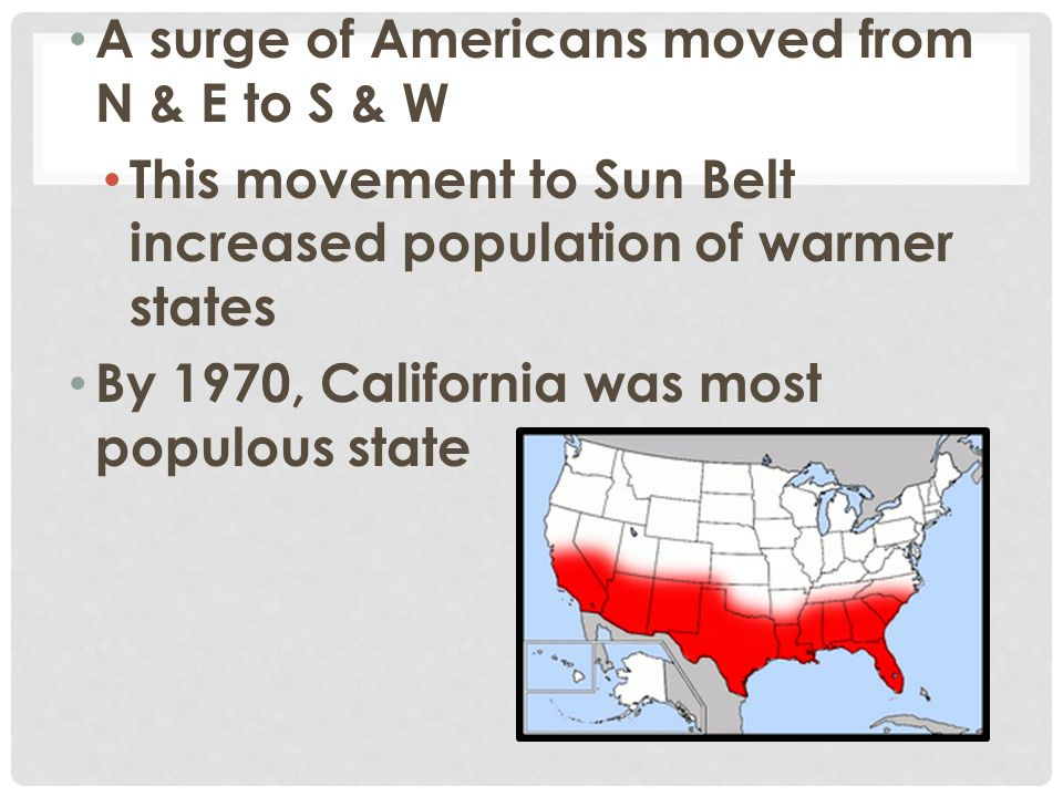 A surge of Americans moved from N & E to S & W
