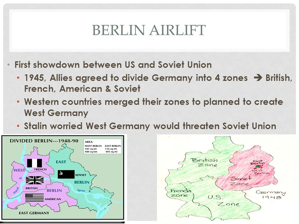 Berlin airlift First showdown between US and Soviet Union