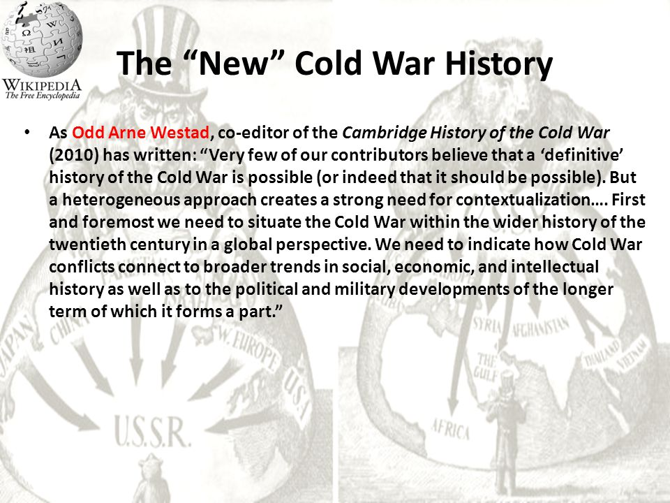 the cold war a new history Continuing debate and new approaches in cold war history  you will be asked to authorise cambridge core to connect with your.