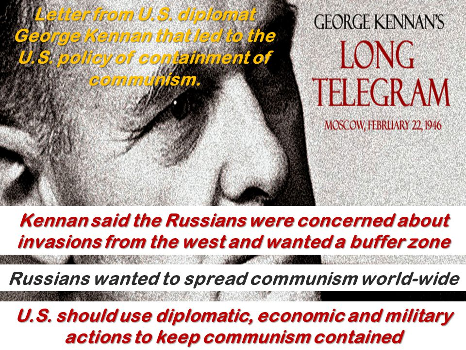 Russians wanted to spread communism world-wide