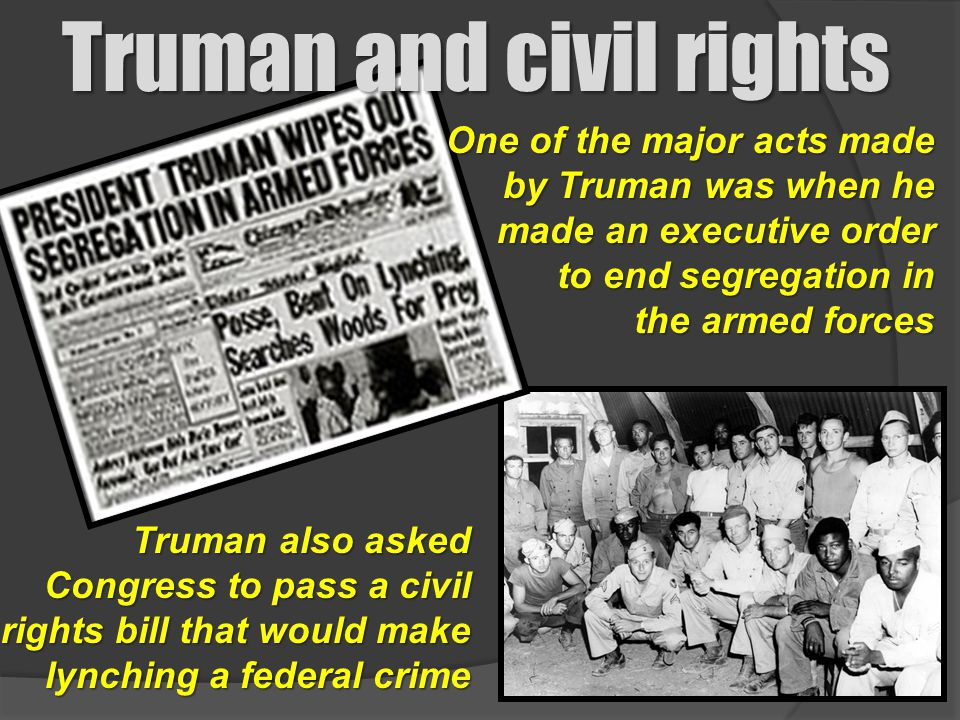 Truman and civil rights