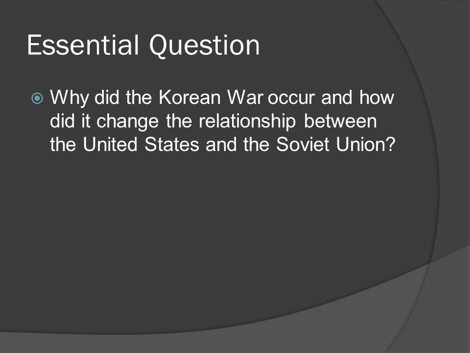 why did the relationship between usa and ussr change