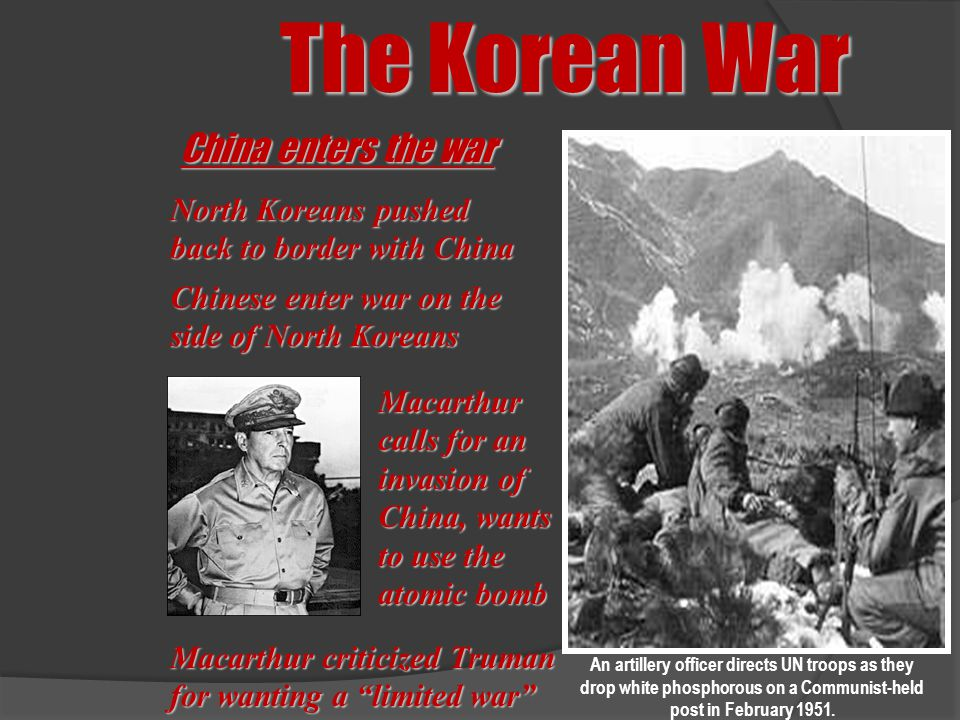 The Korean War China enters the war