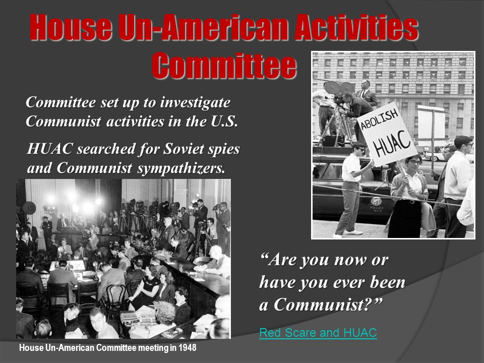 House Un-American Committee meeting in 1948
