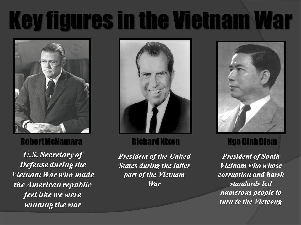 Key figures in the Vietnam War