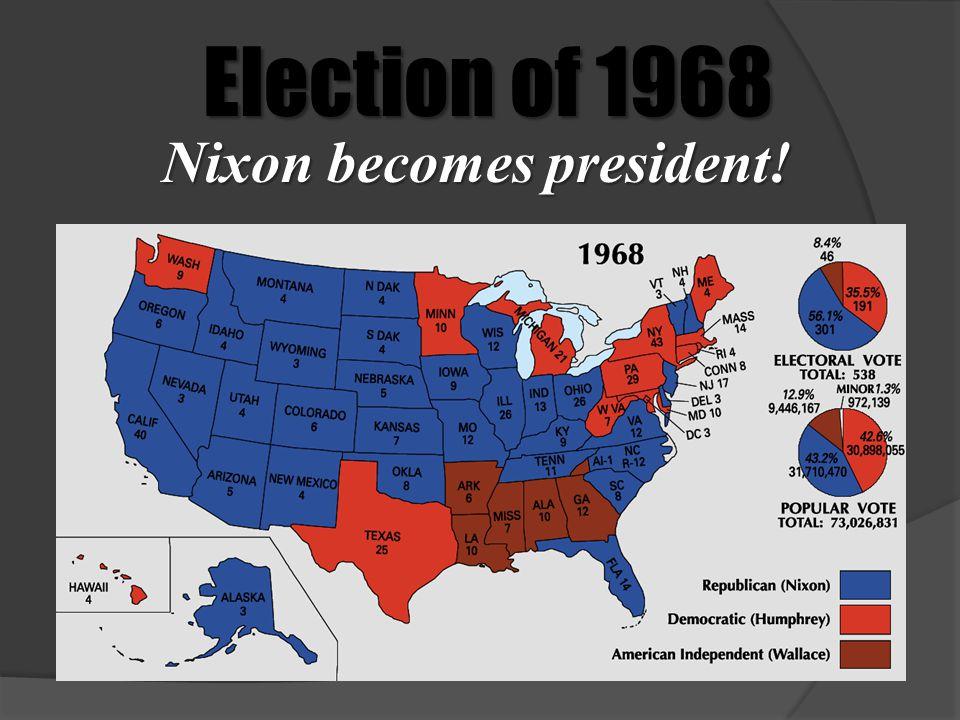 Nixon becomes president!