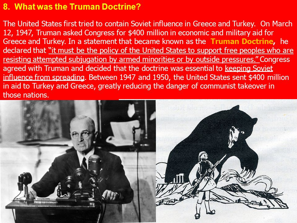 8. What was the Truman Doctrine