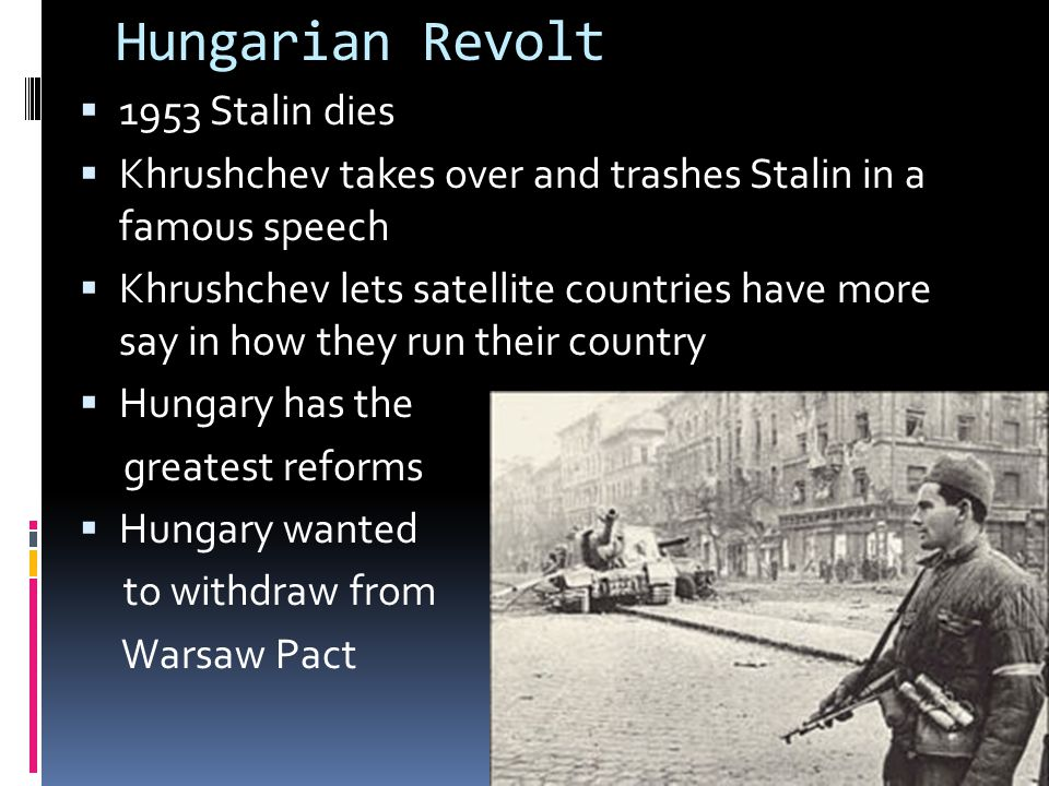 Hungarian Revolt 1953 Stalin dies