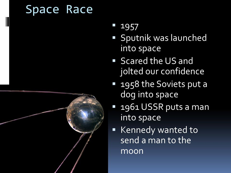 Space Race 1957 Sputnik was launched into space