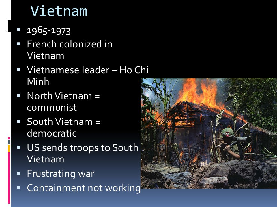 Vietnam 1965-1973 French colonized in Vietnam