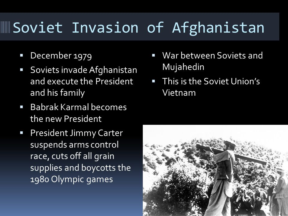 Soviet Invasion of Afghanistan