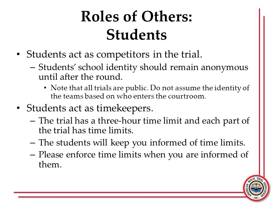 Roles of Others: Students
