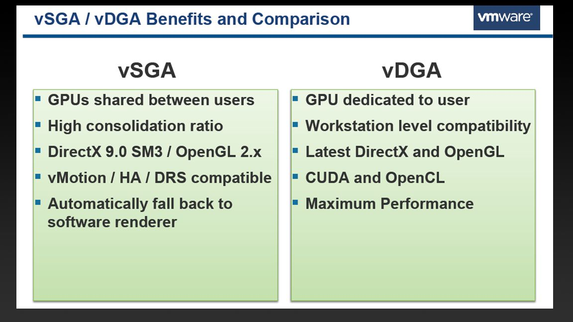 Src: GTC2013 presentation S3544 3D Apps Vmware Horizon View
