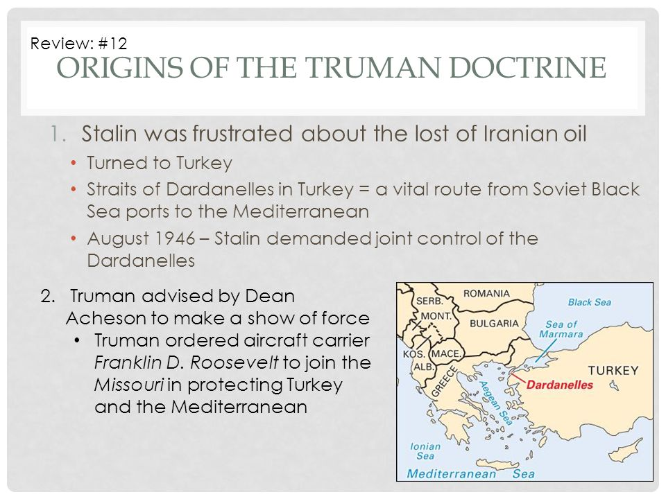 Origins of the Truman Doctrine