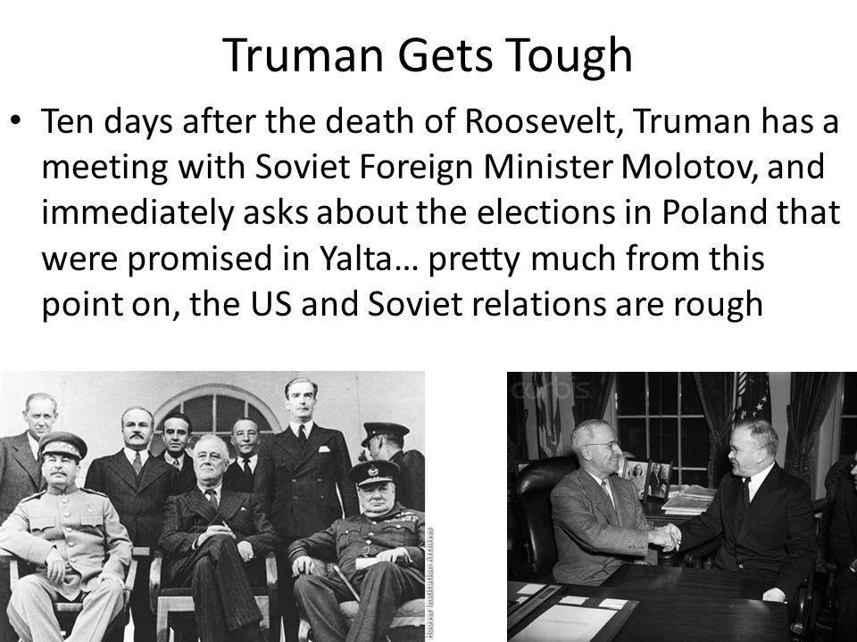 Truman Gets Tough