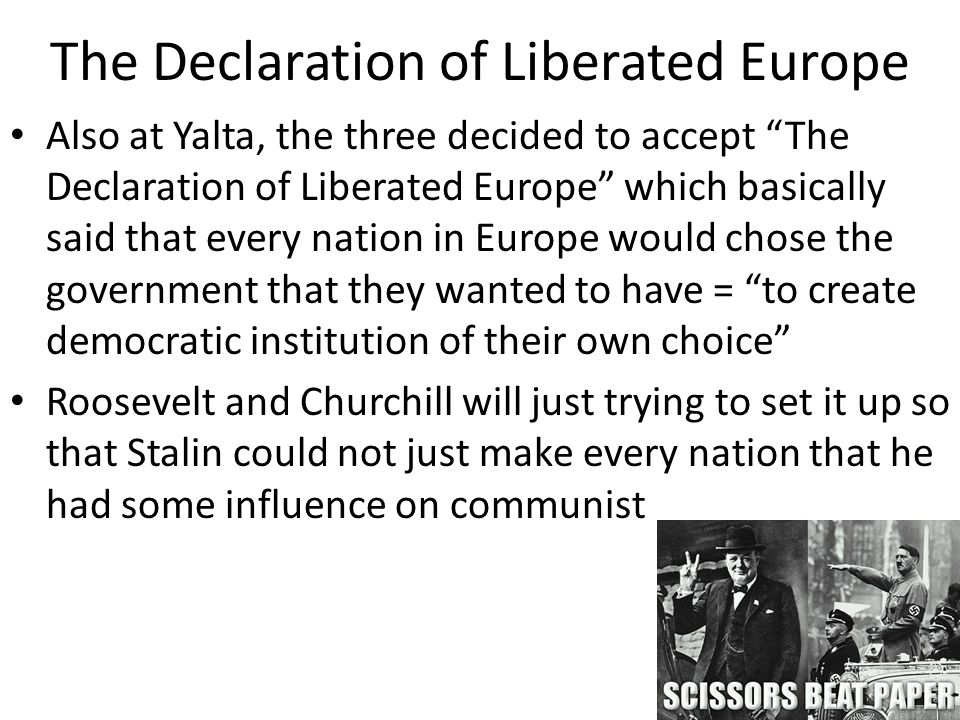 The Declaration of Liberated Europe