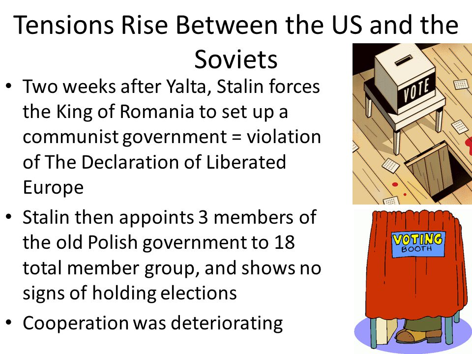 Tensions Rise Between the US and the Soviets