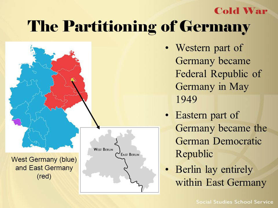 The Partitioning of Germany