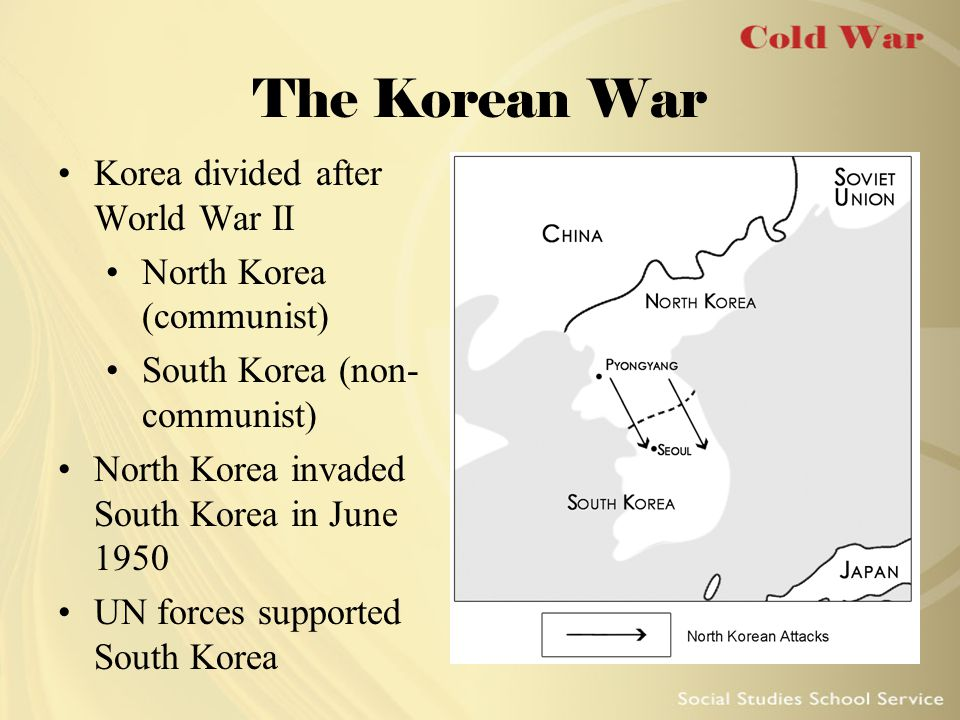The Korean War Korea divided after World War II