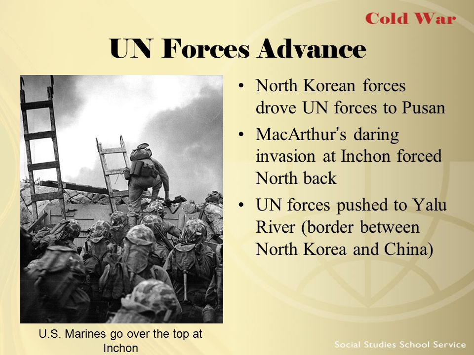 U.S. Marines go over the top at Inchon