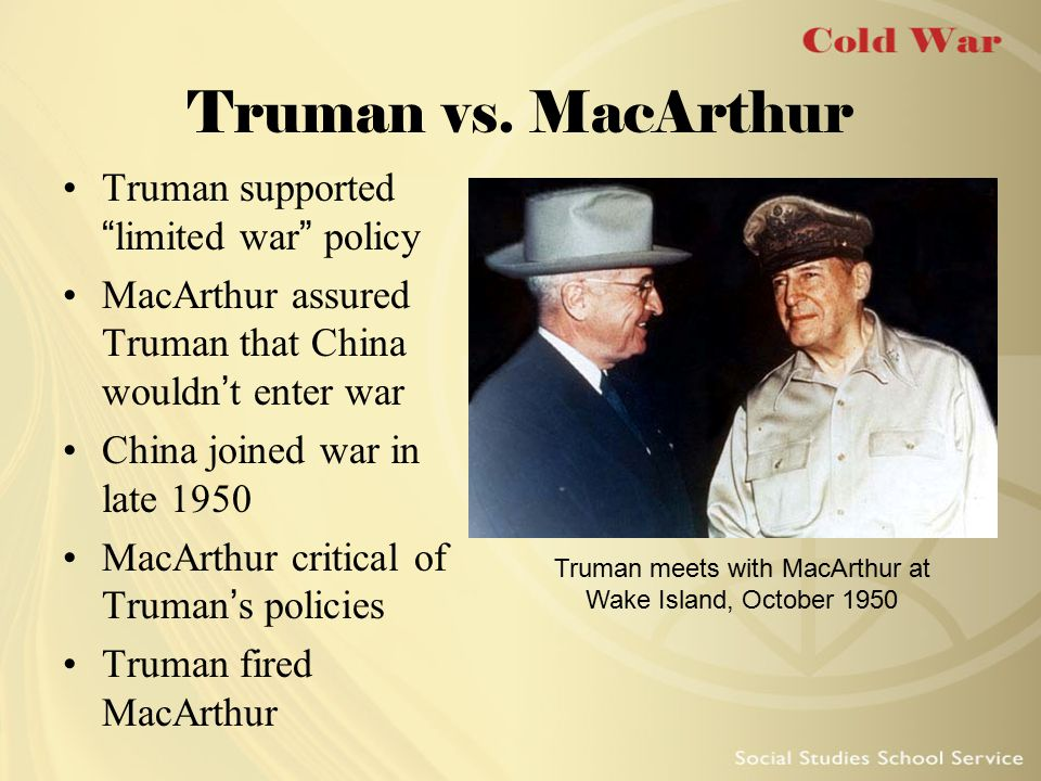 Truman meets with MacArthur at Wake Island, October 1950