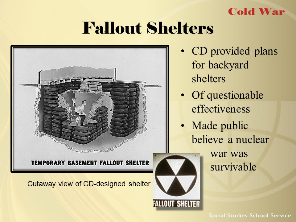 Cutaway view of CD-designed shelter