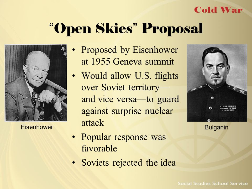 Open Skies Proposal Proposed by Eisenhower at 1955 Geneva summit