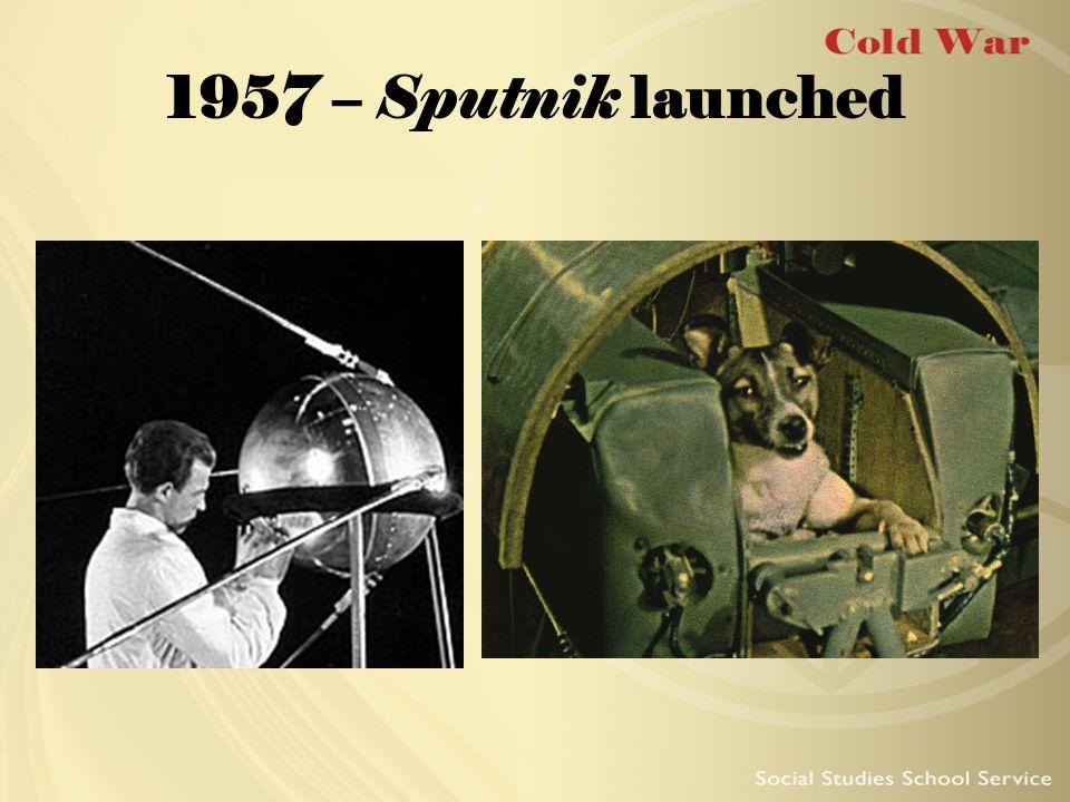 1957 – Sputnik launched