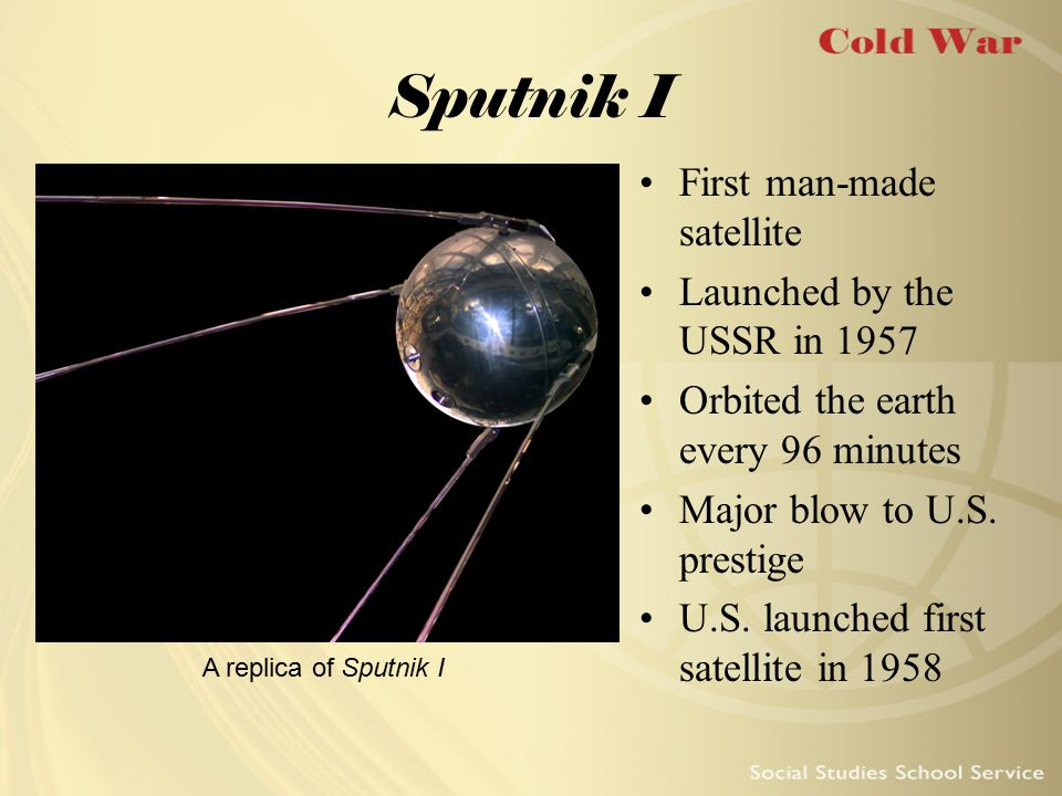 Sputnik I First man-made satellite Launched by the USSR in 1957