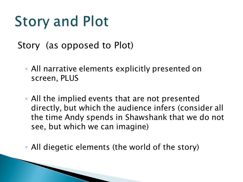 Story and Plot Story (as opposed to Plot)