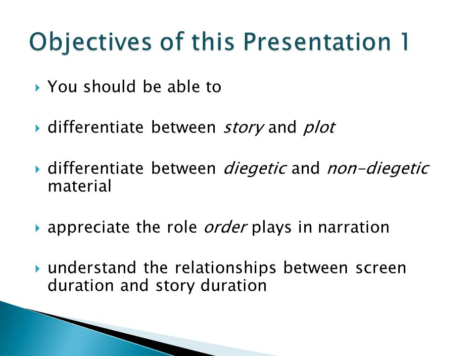Objectives of this Presentation 1