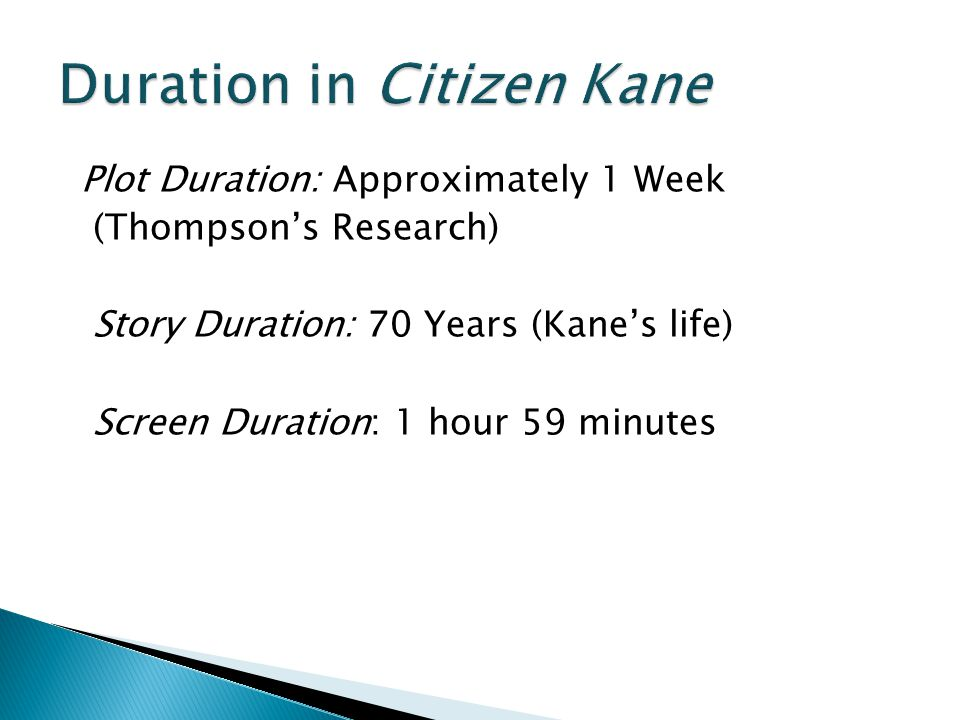 Duration in Citizen Kane