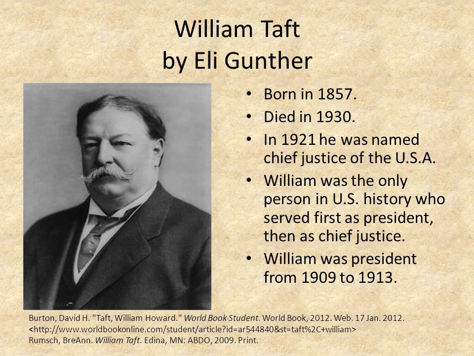 William Taft by Eli Gunther