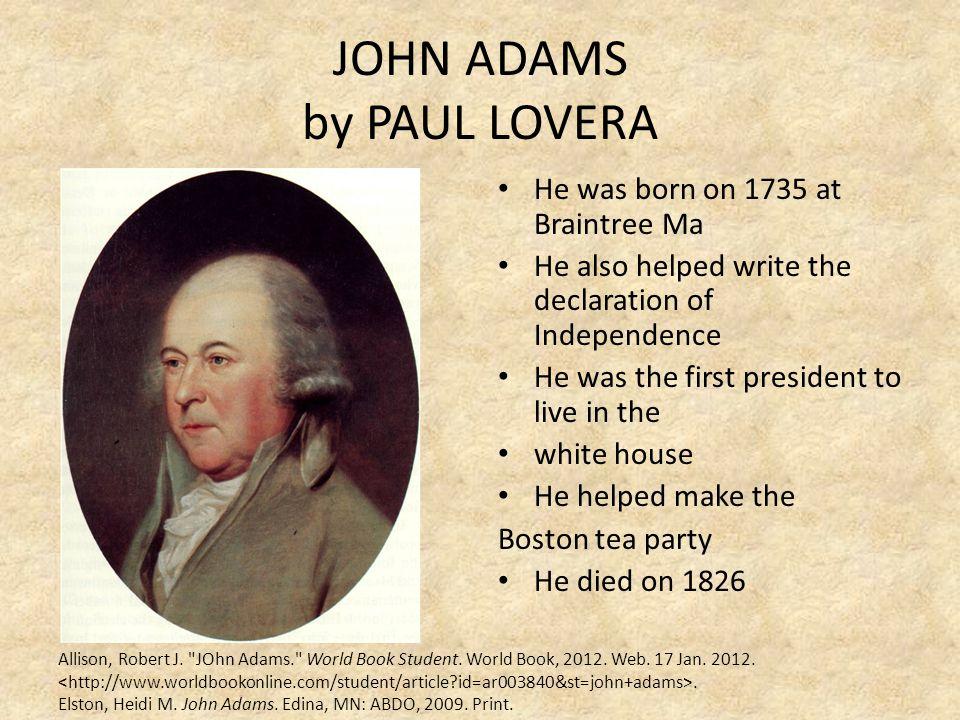 JOHN ADAMS by PAUL LOVERA