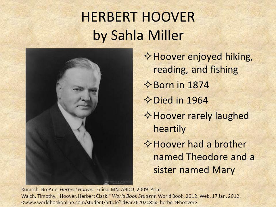 HERBERT HOOVER by Sahla Miller