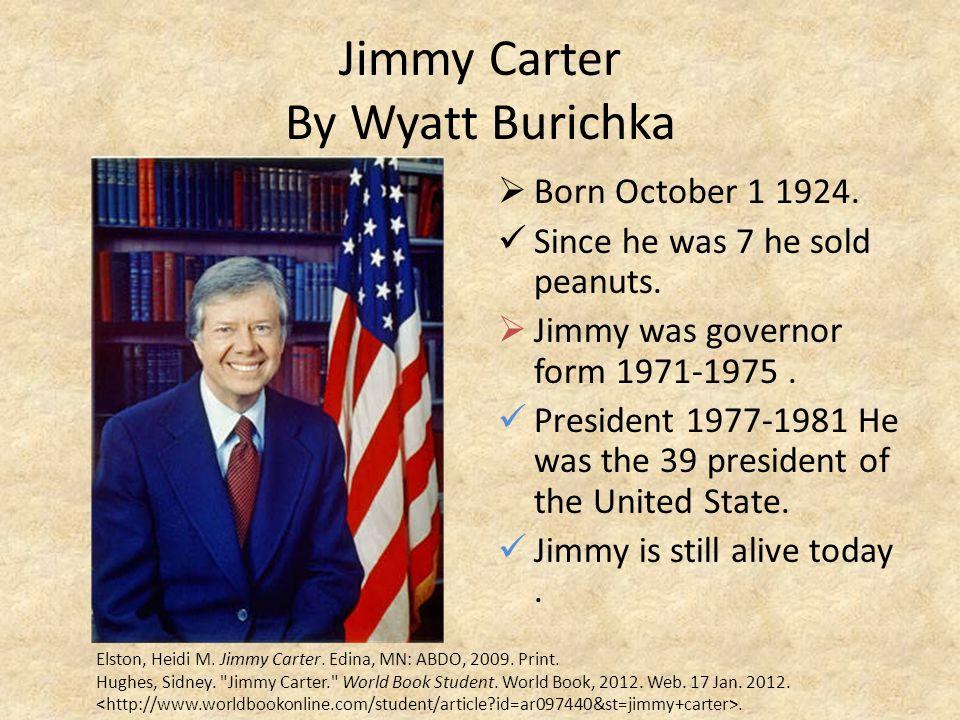 Jimmy Carter By Wyatt Burichka