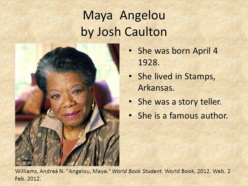 Maya Angelou by Josh Caulton
