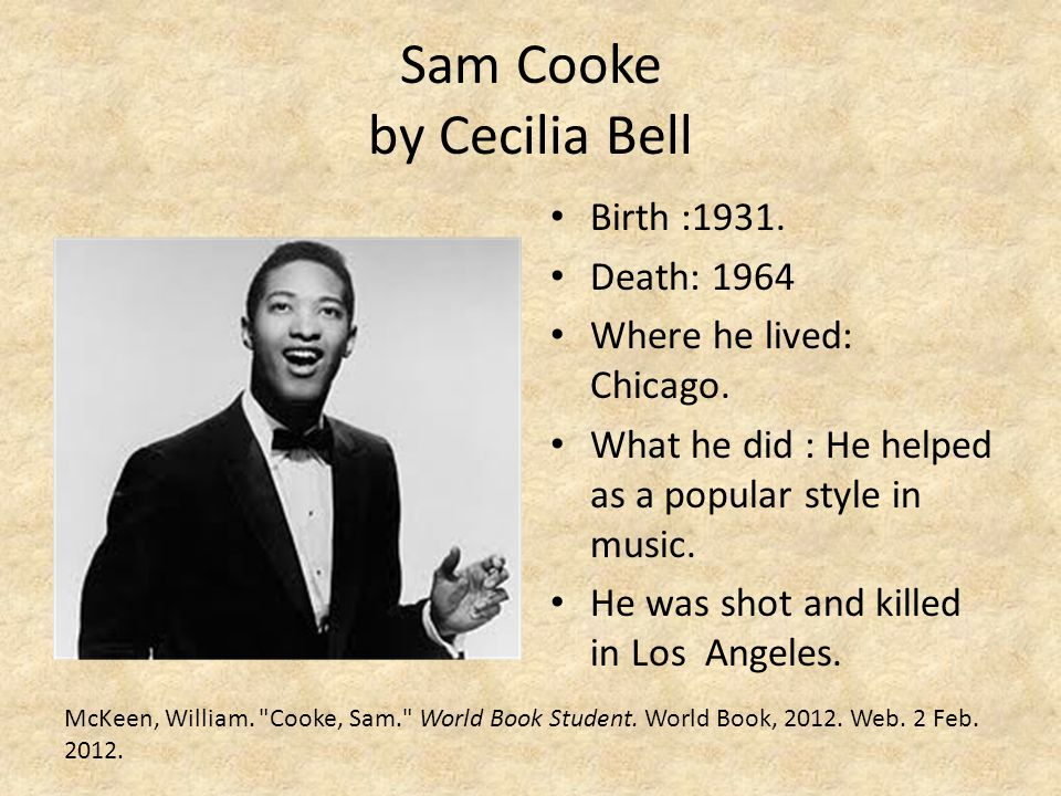 Sam Cooke by Cecilia Bell