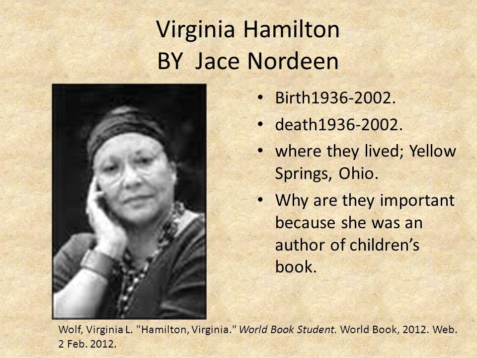 Virginia Hamilton BY Jace Nordeen