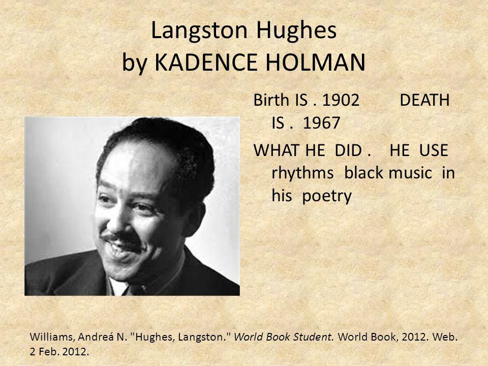 Langston Hughes by KADENCE HOLMAN