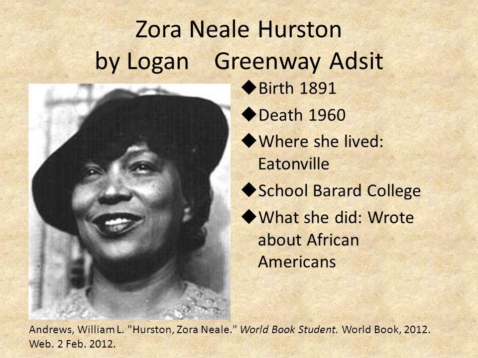 Zora Neale Hurston by Logan Greenway Adsit