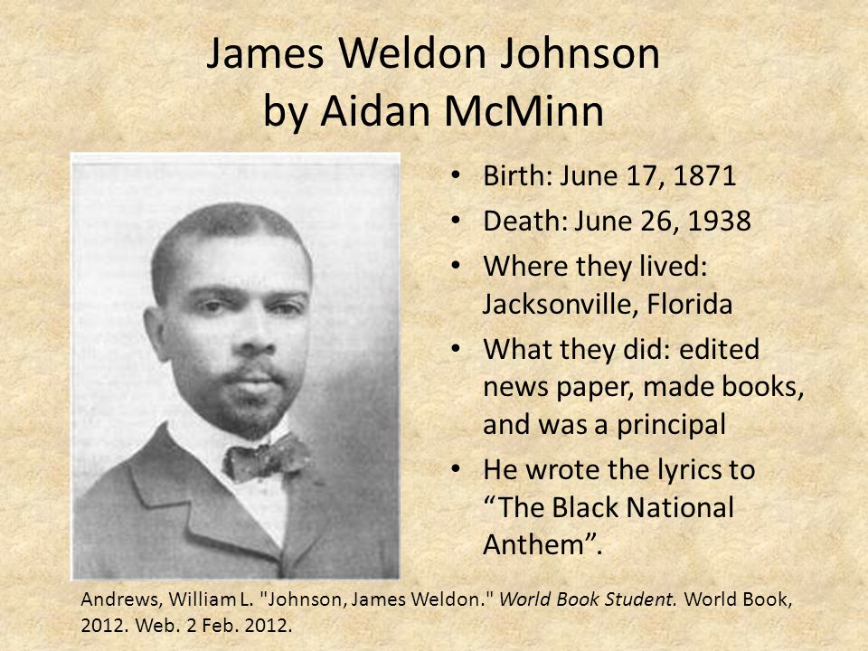 James Weldon Johnson by Aidan McMinn