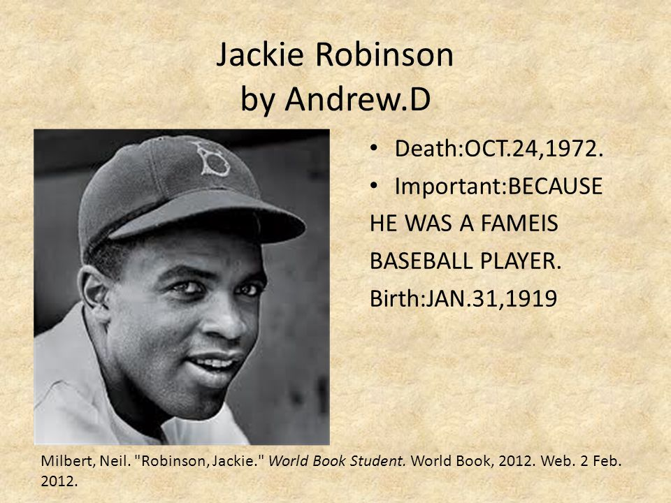Jackie Robinson by Andrew.D