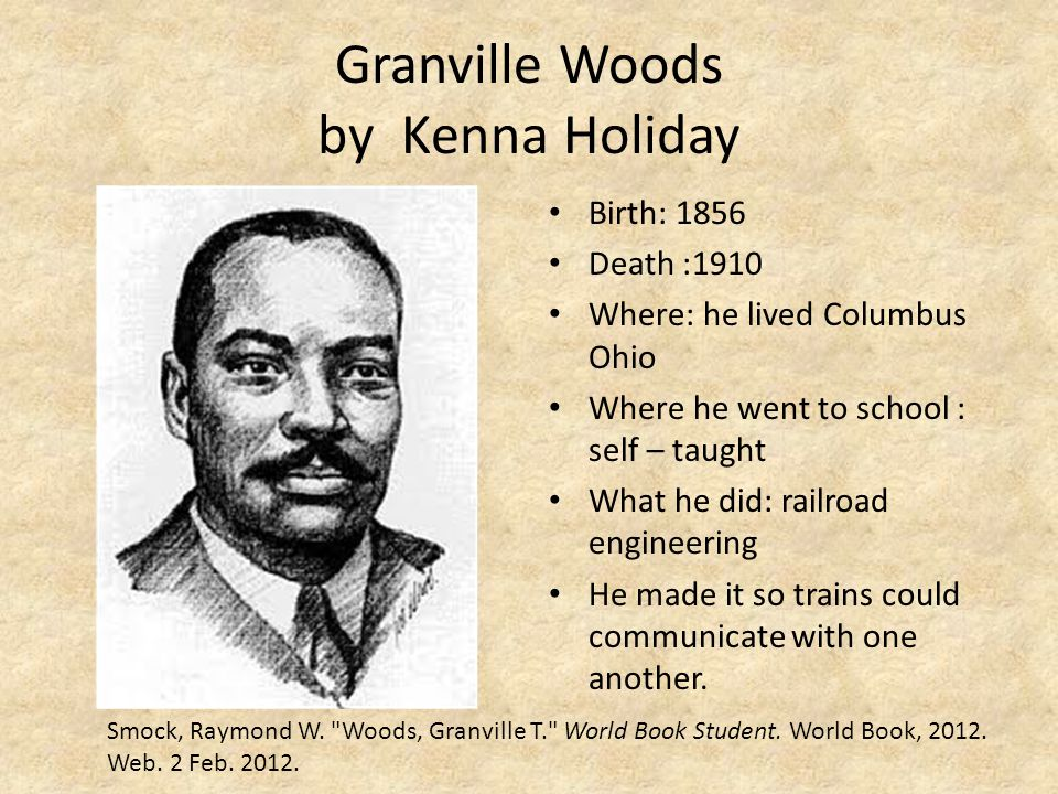Granville Woods by Kenna Holiday