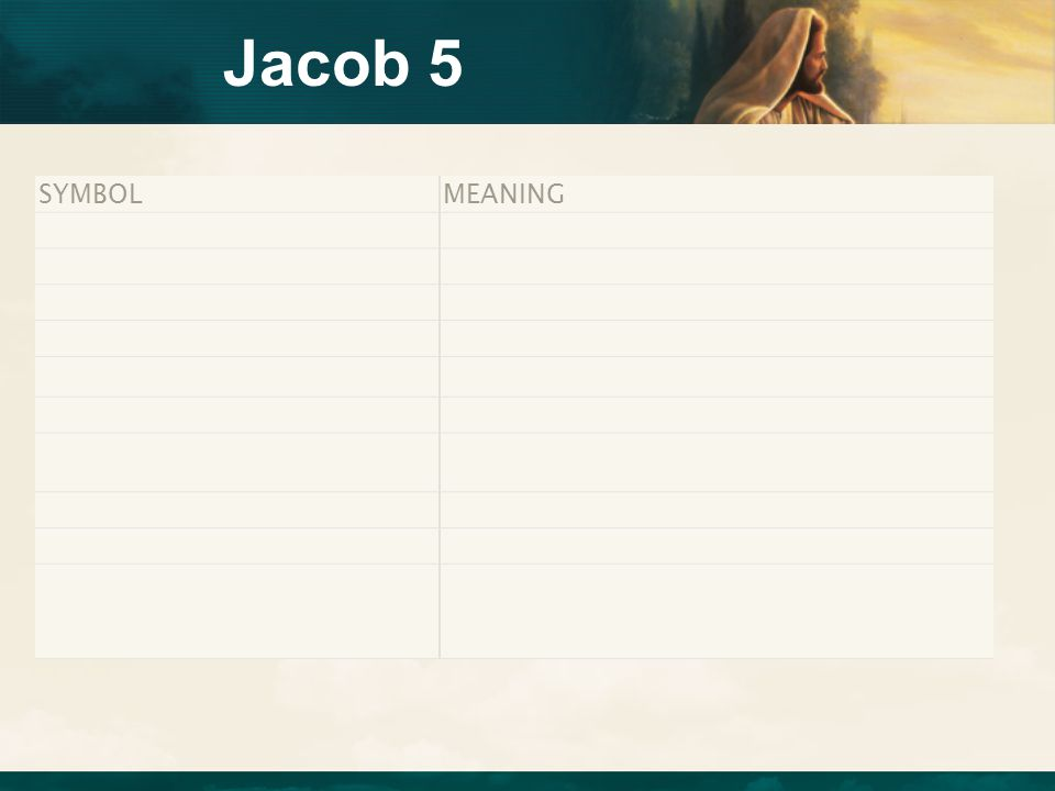 Jacob 5 SYMBOL MEANING