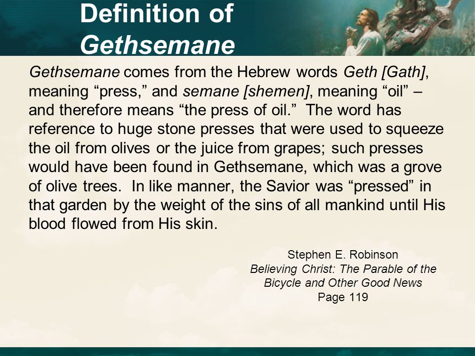 Definition of Gethsemane