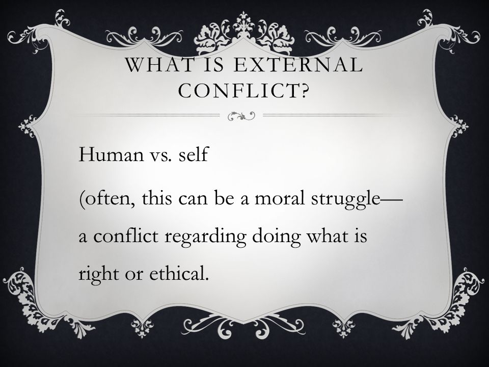 What is external conflict