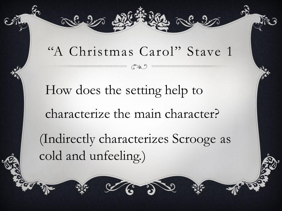 A Christmas Carol Stave 1