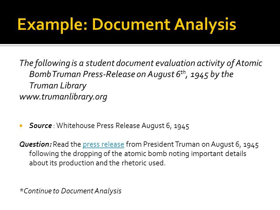 Example: Document Analysis